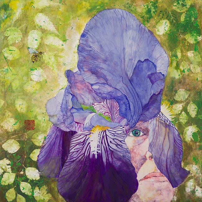 Life in Flowers Exhibition Contemporary Nihon-ga Painting by Artist Serafiavictoria