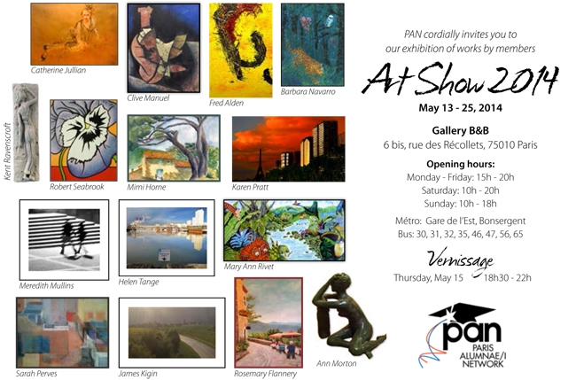 PAN Art Show 2014 | Group Art Exhibition at Studio Galerie B&B from 13 – 25 mai 2014.