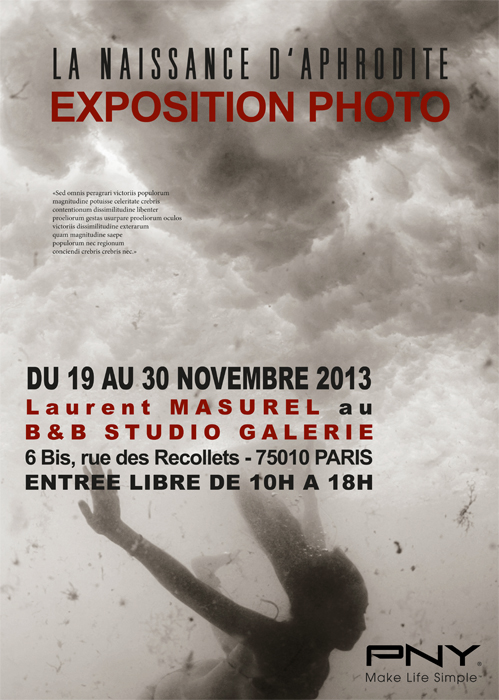 The Birth of Aphrodite Laurent Masurel Photography Exhibition Studio Galerie B&B